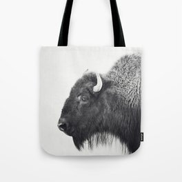 Buffalo Photograph in Black and White Tote Bag