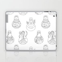 Matryoshka Doll Hand Drawn Line Art Pattern Laptop & iPad Skin