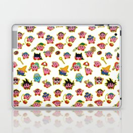 Kirby is swallowing everyone in here. Laptop & iPad Skin