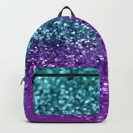 Purple Teal MERMAID Girls Glitter #1 #shiny #decor #art #society6 Backpack