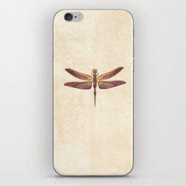 Art Nouveau Dragonfly In Purple iPhone Skin
