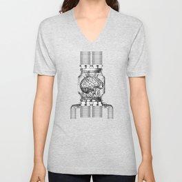 Mother Brain Super Metroid Engraving Scene Unisex V-Neck