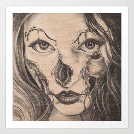 Girl Anachronism Art Print