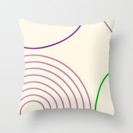 Motif circulaire Throw Pillow
