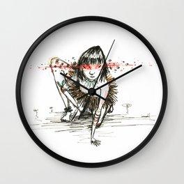 Sangue nos olhos, força no coração Wall Clock