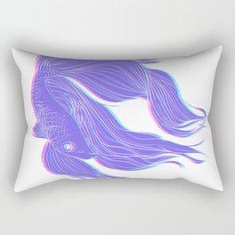 The Fighting Fish Rectangular Pillow