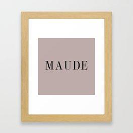 Maude Framed Art Print