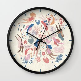 Almost Mermaid Wall Clock