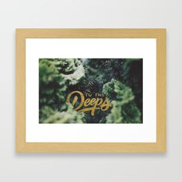Deeps Framed Art Print