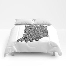 Typographic Indiana Comforters