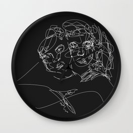 Connection by Sher Rhie Wall Clock