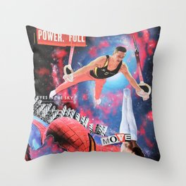 Power Full Move Throw Pillow