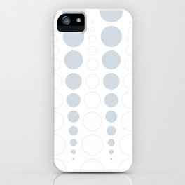 Up and down polka dot pattern in white and a pale icy gray iPhone Case