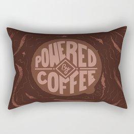 powered by coffee and swirls Rectangular Pillow