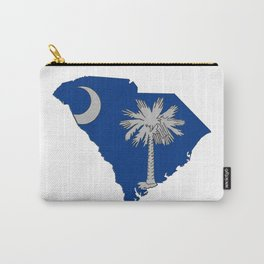 South Carolina Map with State Flag Carry-All Pouch