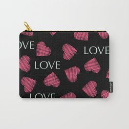 hearts pattern retro texture Carry-All Pouch