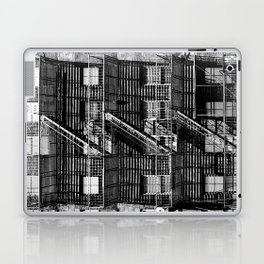 Fire escapes at noon Laptop & iPad Skin
