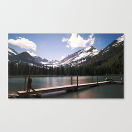 Lake Josephine in Many Glacier Canvas Print