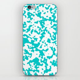 Spots - White and Cyan iPhone Skin