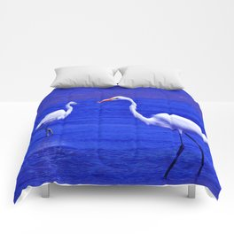 ROYAL BLUE GARZA BIRD Comforters