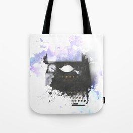 Typewriter Watermark Tote Bag
