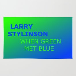 Larry Stylinson. When green met blue. Rug