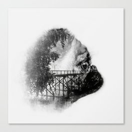 Sookie and the bridge No.2 Canvas Print