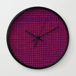 Left - purple Wall Clock