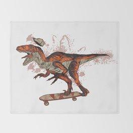 Dino Skate Throw Blanket
