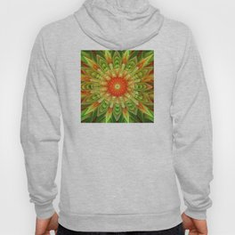 Abstract yellow orange luxury Mandala Hoody