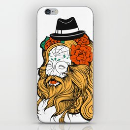 Bearded Women Girl iPhone Skin