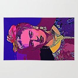 Frieda Kahlo PopArt Portrait Rug