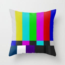 NTSC Color Bars Throw Pillow