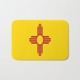 flag new mexico-usa,america,sun,Zia Sun symbol,New Mexican,Albuquerque,Las Cruces,santa fe,roswell Bath Mat