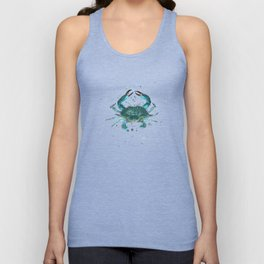 """""""Blue Crab"""" by Amber Marine ~ Watercolor Painting, Illustration, (Copyright 2013) Unisex Tank Top"""