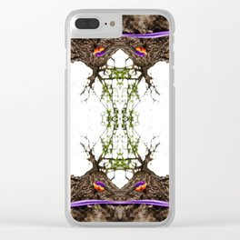 Marked Tree Clear iPhone Case