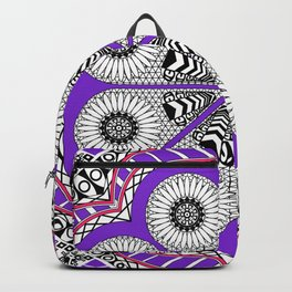 Totonaca mexican flower Backpack
