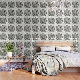 Paper Birch – Black Tree Rings Wallpaper