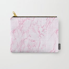 Pink Marble Look Carry-All Pouch