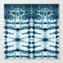 Teal Tribe Shibori Canvas Print
