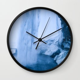 Behind the Waterfall Wall Clock