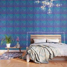 Purples & Blues Mermaid scales Wallpaper