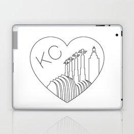 Kansas City - Minimalist Skyline Heart Laptop & iPad Skin