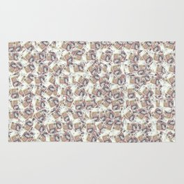 Giant money background 50 pound notes / 3D render of thousands of 50 pound notes Rug
