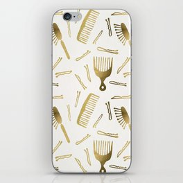 Good Hair Day – Gold Palette iPhone Skin