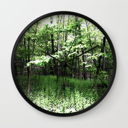 487 - Spring Forest Wall Clock