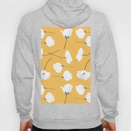 Poppies on mustard Hoody