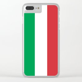 National Flag of Italy, High Quality Image Clear iPhone Case