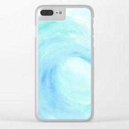 Surf Time Clear iPhone Case