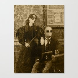 Dark Victorian Portrait: The Specialists Canvas Print